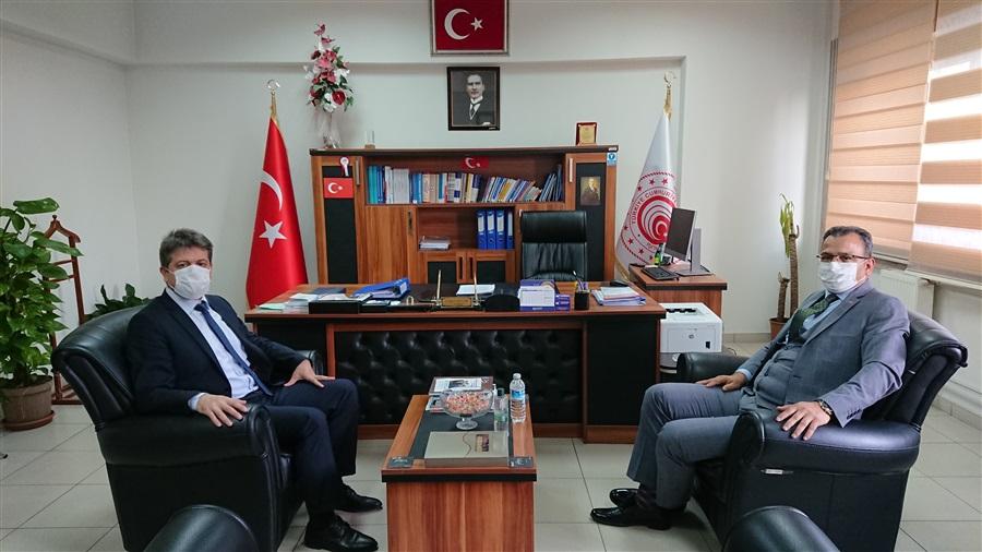 Aksaray Cumhuriyet Başsavcısı Adem Aydemir, İl Müdürümüz İsmail Sevim'e iade-i ziyaretti bulundu.