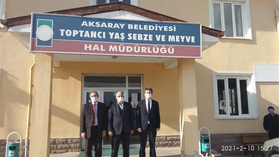 İl Müdürlüğümüzden Aksaray Belediyesi Toptancı Yaş Sebze ve Meyve Hal Müdürlüğünü ziyaret.