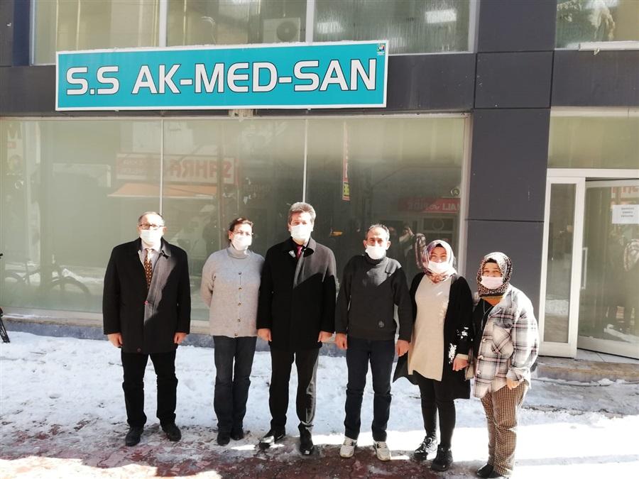 İl Müdürlüğümüzden S.S. Akmedsan Medikal ve Tıbbı Ürünler Kadın Girişimi Üretim ve İşletme Kooperatifini ziyaret.