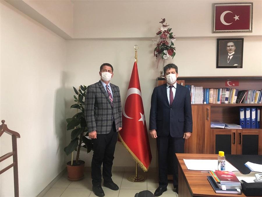İl Kültür ve Turizm Müdürü Sayın Mustafa Doğan İl Müdürümüz İsmail Sevim'i makamında ziyaret etti