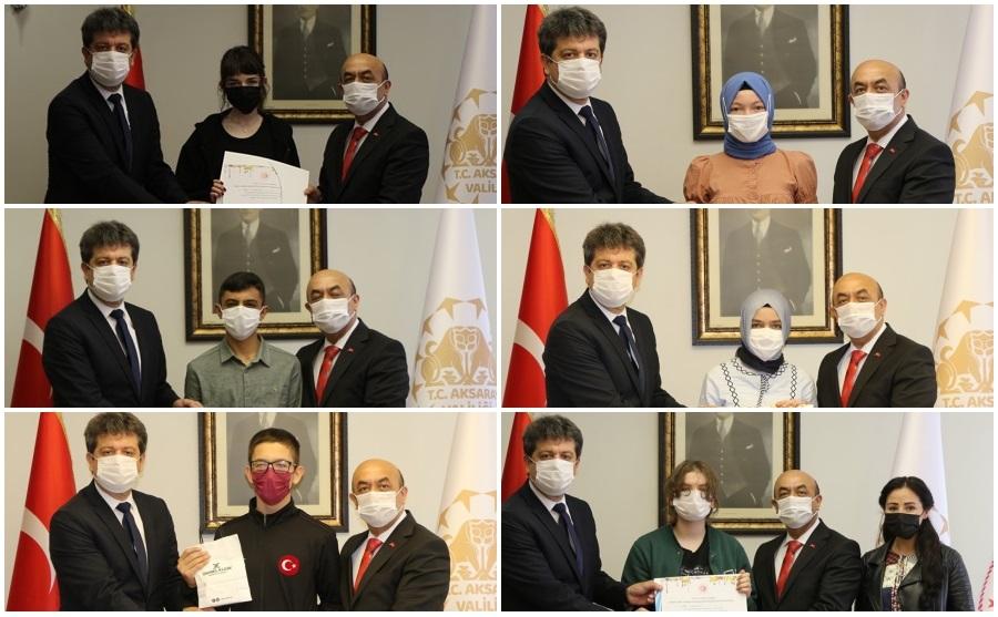 Tüketici Hakları konulu Türkiye geneli Ortaokullar arası Resim ve Liseler arası Karikatür yarışmasında Aksaray il birincilerine ödülleri verildi